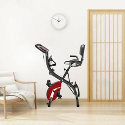 3-in-1 Folding Upright Bike for Home Use Indoor Exercise wit