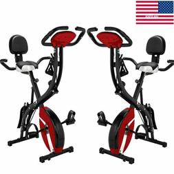 3 in 1 X-Shape Upright Foldable Exercise Bike Workout Home U