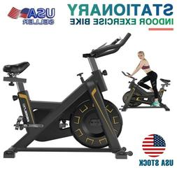 Adjustable Exercise Bike with Flywheel Home Gym Cycling Mult