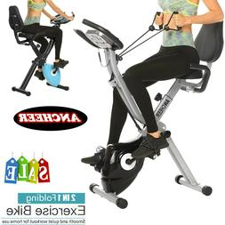 ANCHEER Folding 2in1 Exercise Bike Indoor Stationary Slim Fi