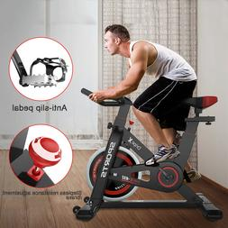Black Exercise Bike Stationary Bicycle Indoor Cycling Cardio