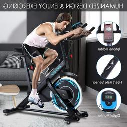 ANCHEER Exercise Bike, 49LBS Indoor Cycling Bike Stationary