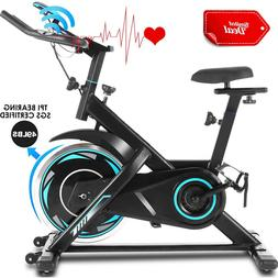 ANCHEER Exercise Bike Cycling Quiet Stationary w/LCD Monitor