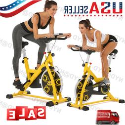 Exercise Bike Foldable Stationary Indoor Cycling Bike Sport