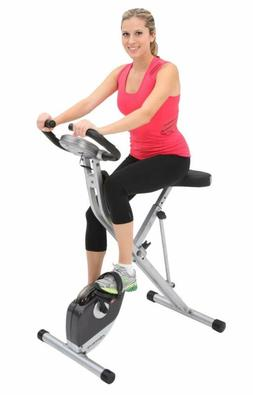 Exerpeutic Exercise Bike Folding Magnetic Upright 300 lbs 12