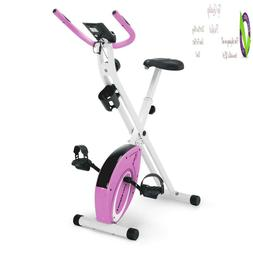 Marcy Foldable Upright Exercise Bike With Adjustable Resista