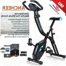 ANCHEER Folding 10 Levels Magnetic Resistance X-Bike Exercis