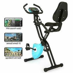 ANCHEER Folding 2 In 1 Exercise Bike Machine Indoor Cycling