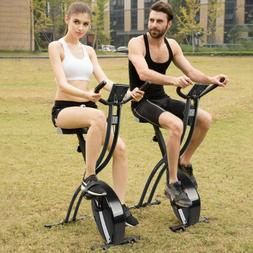Folding Exercise Bike Resistance Cycling Cardio Bicycle Home