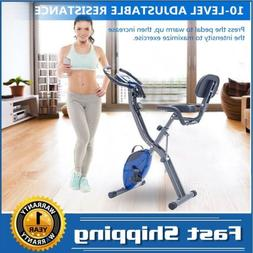 Folding exercise bike vertical horizontal X bike 10 levels a