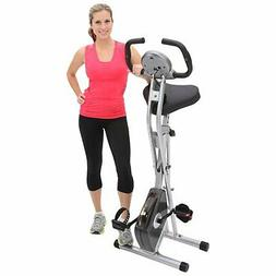 Exerpeutic Folding Magnetic Upright Exercise Bike with 300 l