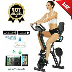 ANCHEER Indoor Exercise Slim Folding Bike 3in1 Stationary Cy