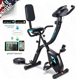ANCHEER Indoor Exercise Slim Folding Bike 3-in-1 Stationary