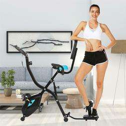 ANCHEER Indoor Exercise Slim Folding Bike,3 in1 Stationary C