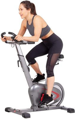 indoor upright bike with curve crank tech