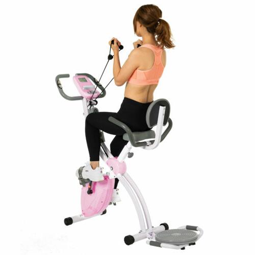 Stationary Exercise Cardio Workout Cycling Magnetic Pink