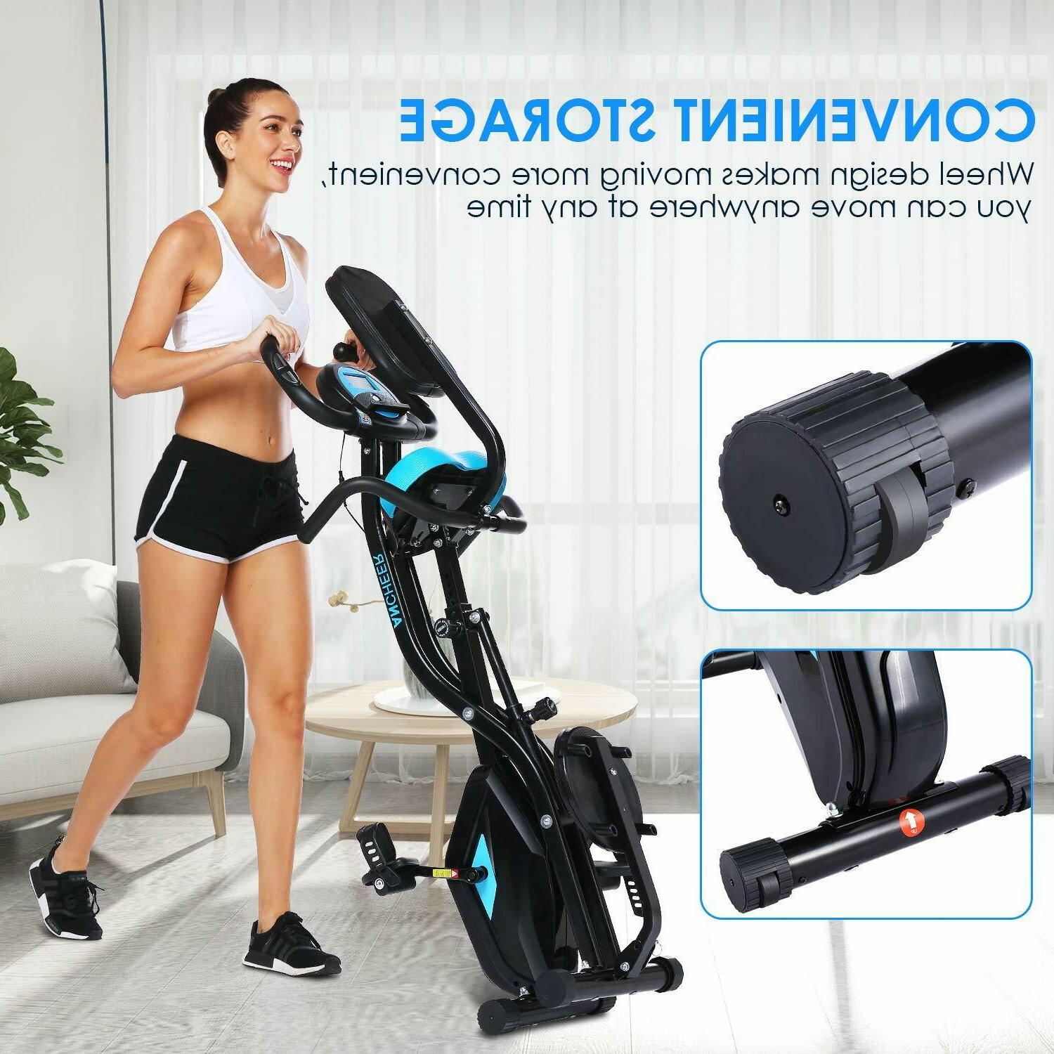 ANCHEER Slim Folding in1 Stationary Cycle
