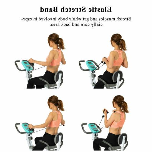 Blue Exercise Bike Workout Cycling Magnetic
