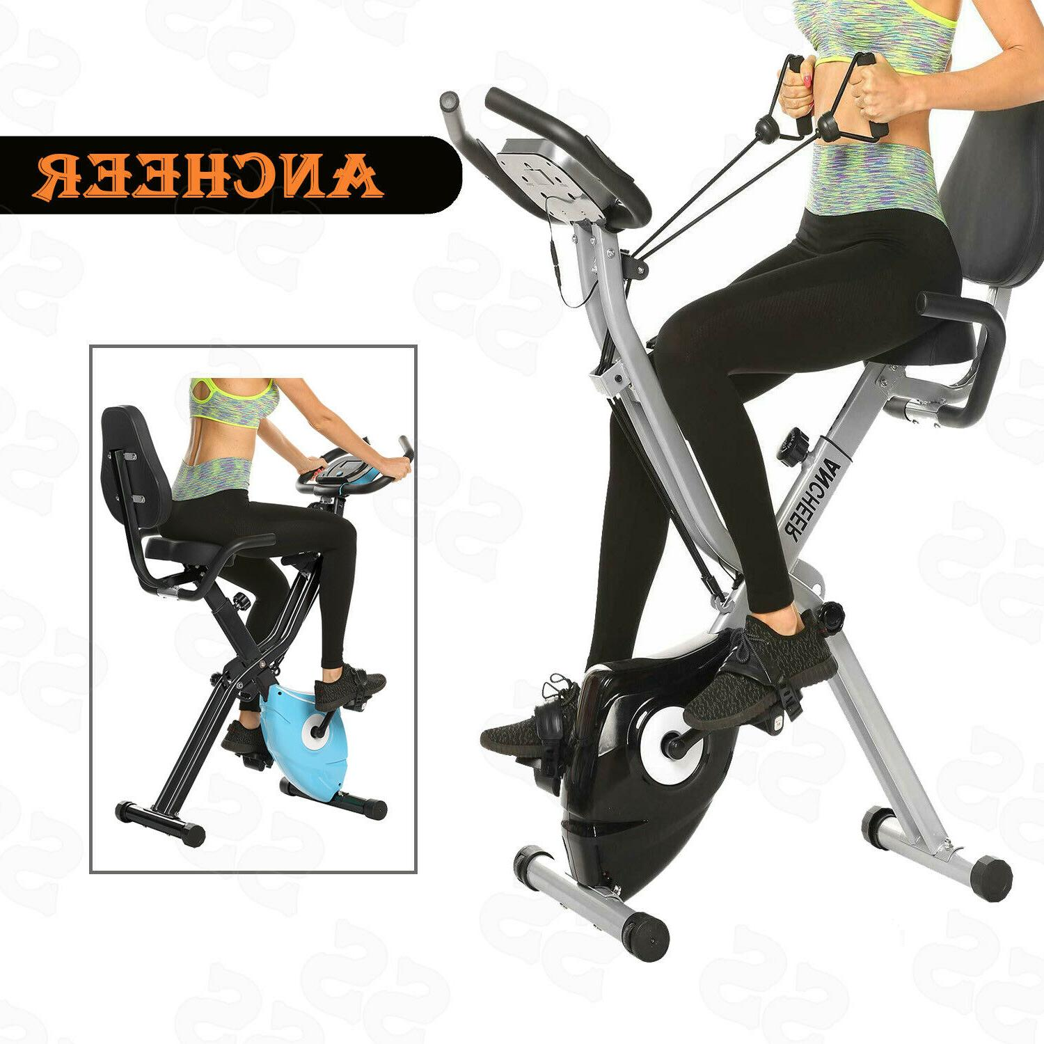 ANCHEER 2in1 Folding Bike Slim Cycling Stationary