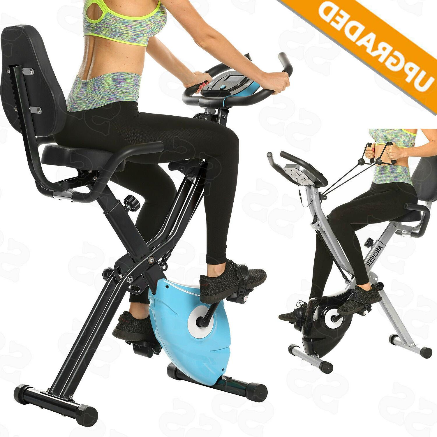 ancheer 2in1 folding exercise bike slim cycling