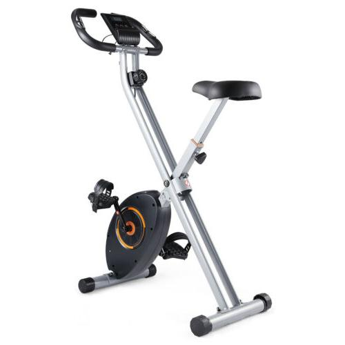 Foldable Bike Magnetic Stationary Indoor Cycling Gym Workout