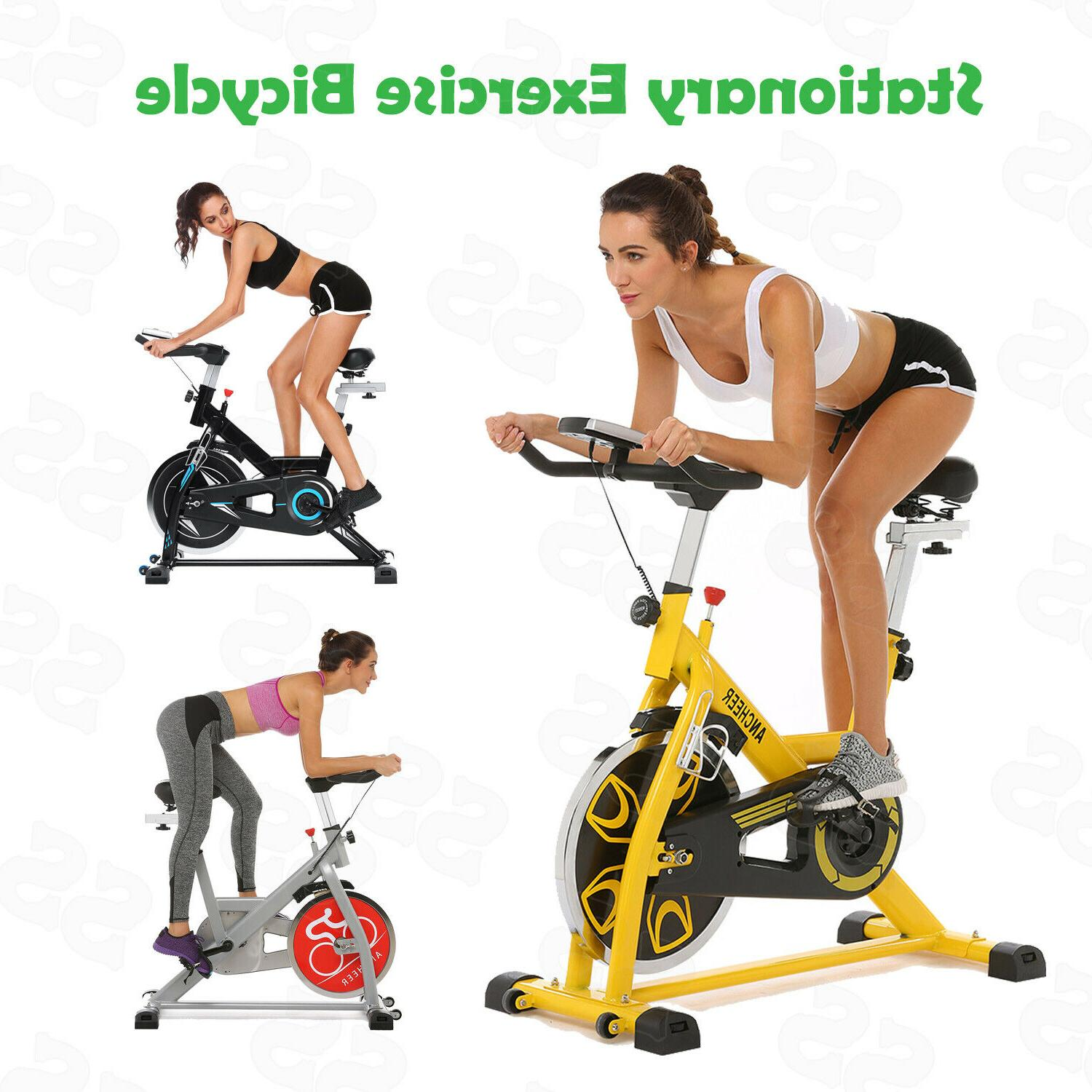 ANCHEER Exercise Bicycle Fitness Gym Stationary Cycling Bike