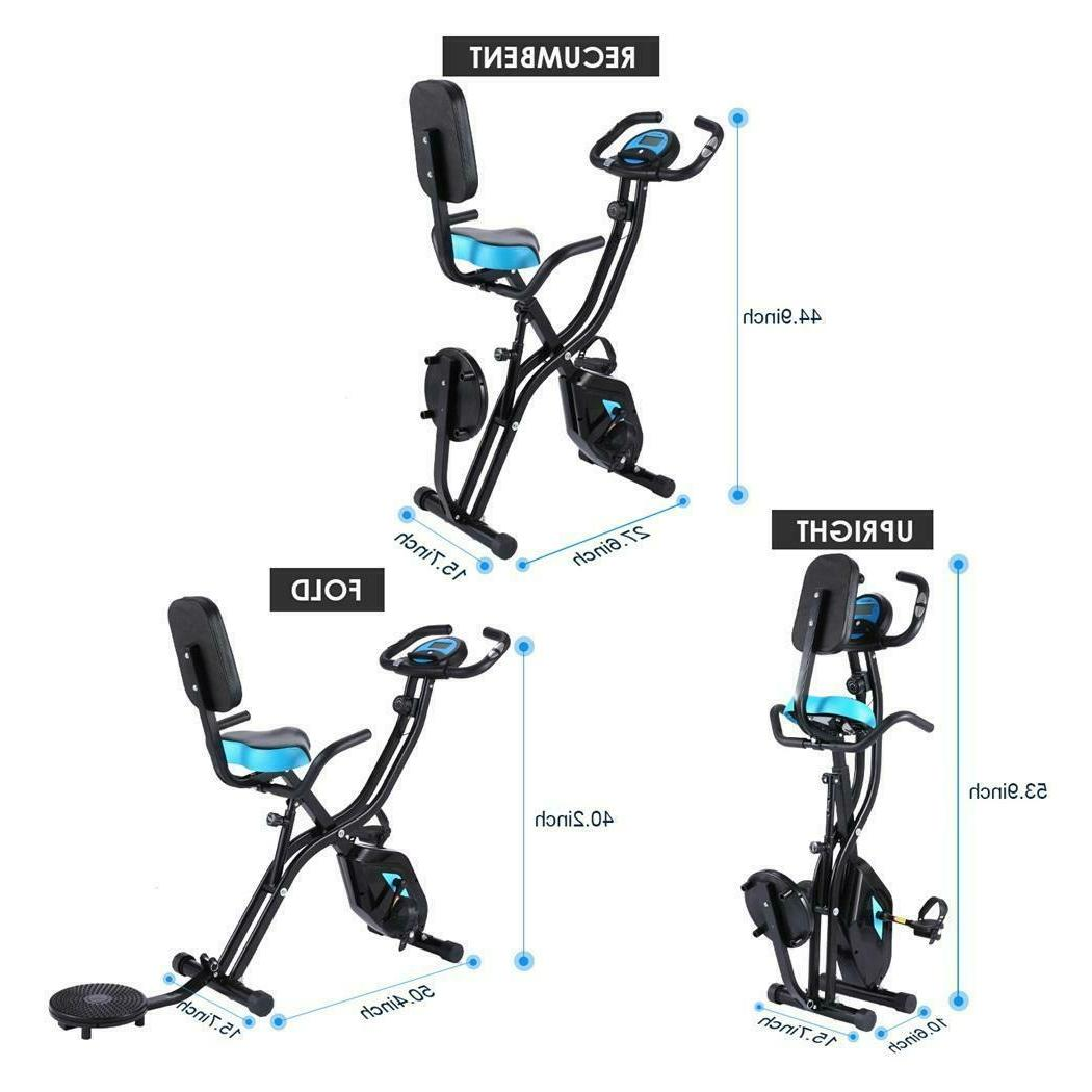 Foldable Exercise Recumbent Cycling LCD Gym