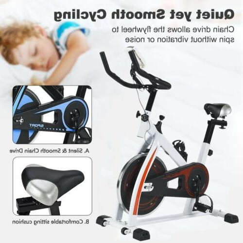 Exercise Bike Stationary Cycling Magnetic Trainer Workout Ho