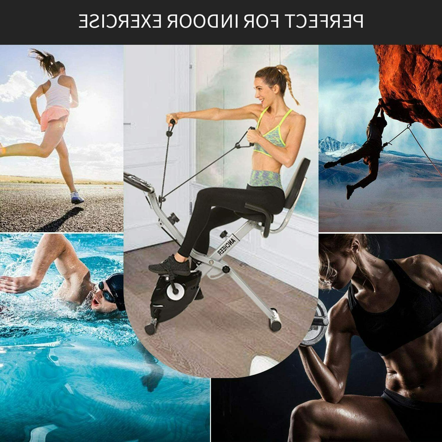 ANCHEER Folding Exercise Bike 3-in-1 w/