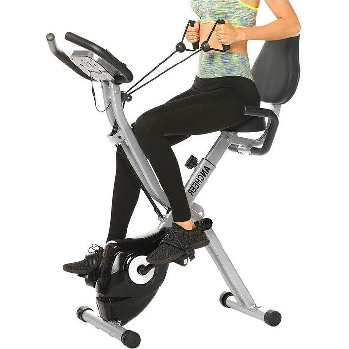 ANCHEER Upright Bike Magnetic w/