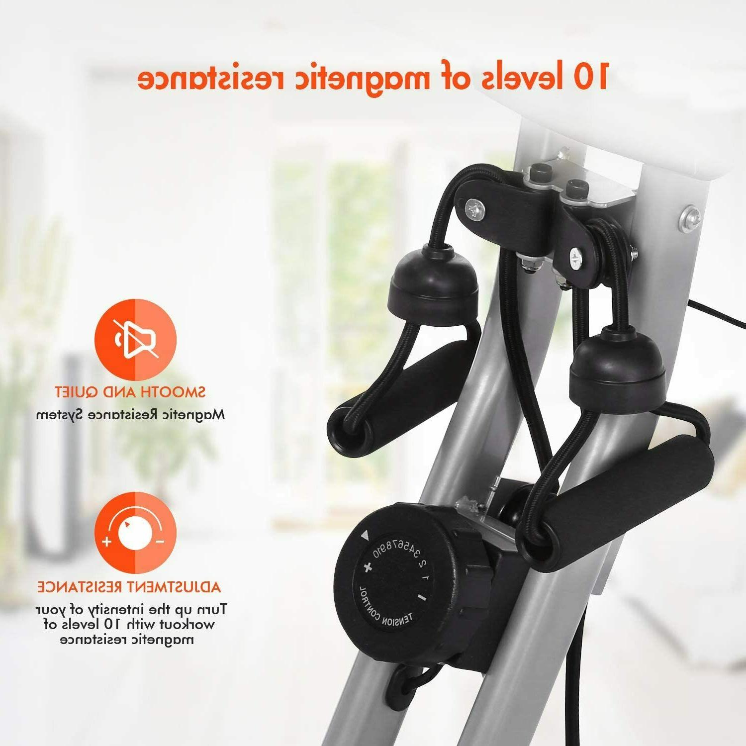 ANCHEER Folding Bike 3-in-1 Magnetic w/ LCD