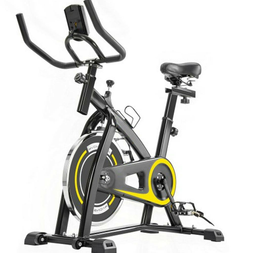 indoor cycling bike trainer with comfortable seat