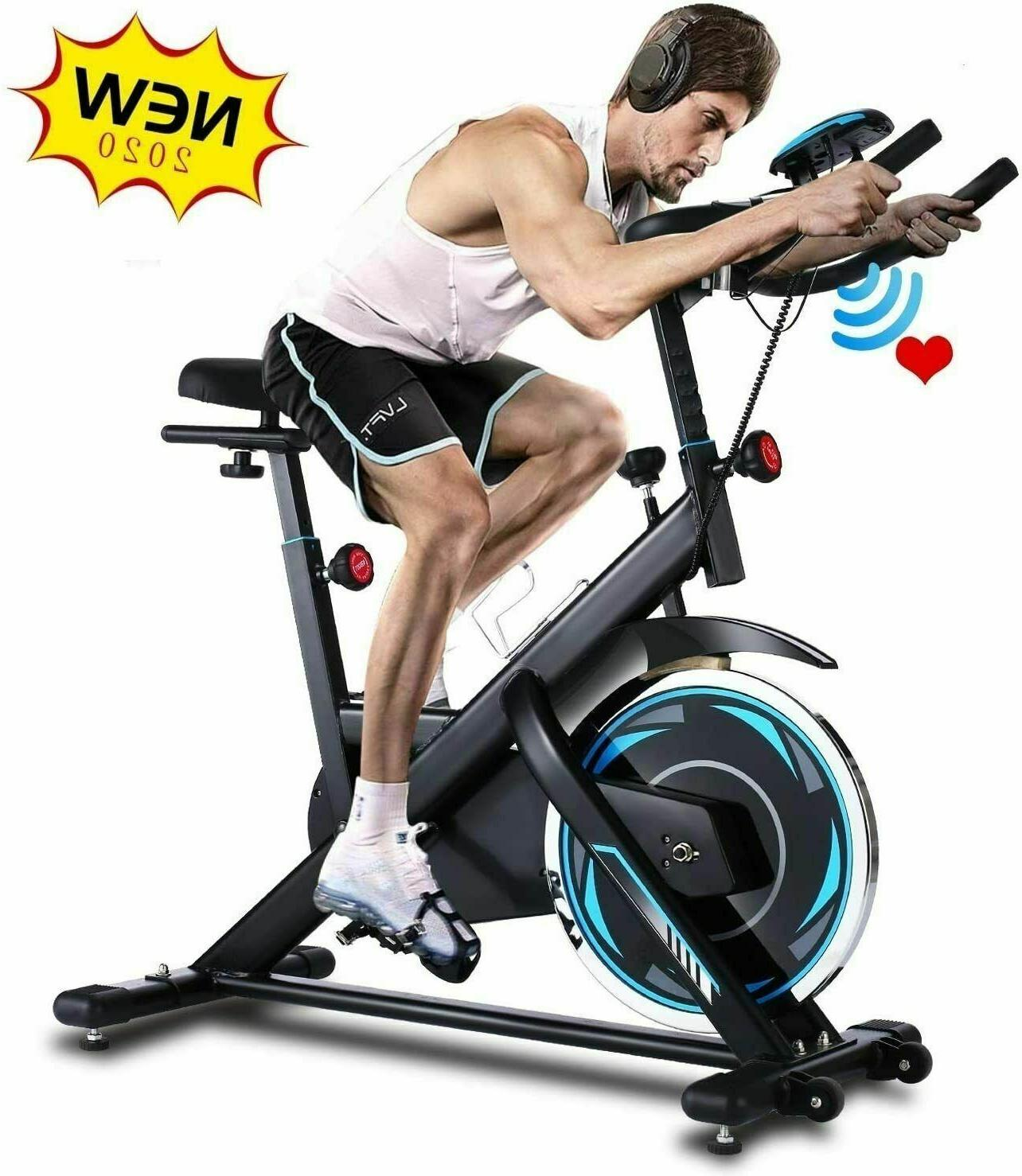 ANCHEER Indoor Exercise Stationary, Cycling w/ Rate