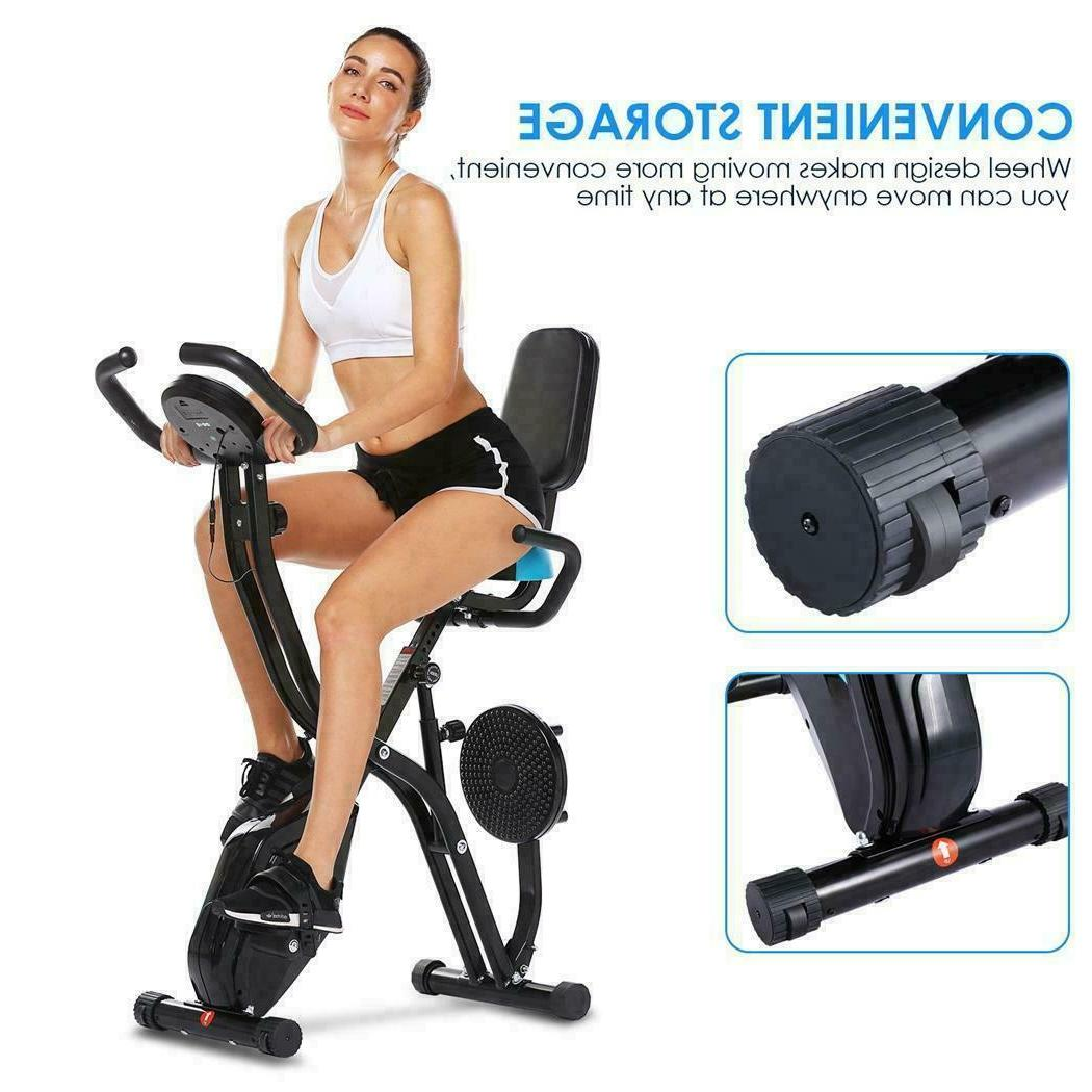 ANCHEER Indoor Slim Folding Stationary Magnetic Cycle