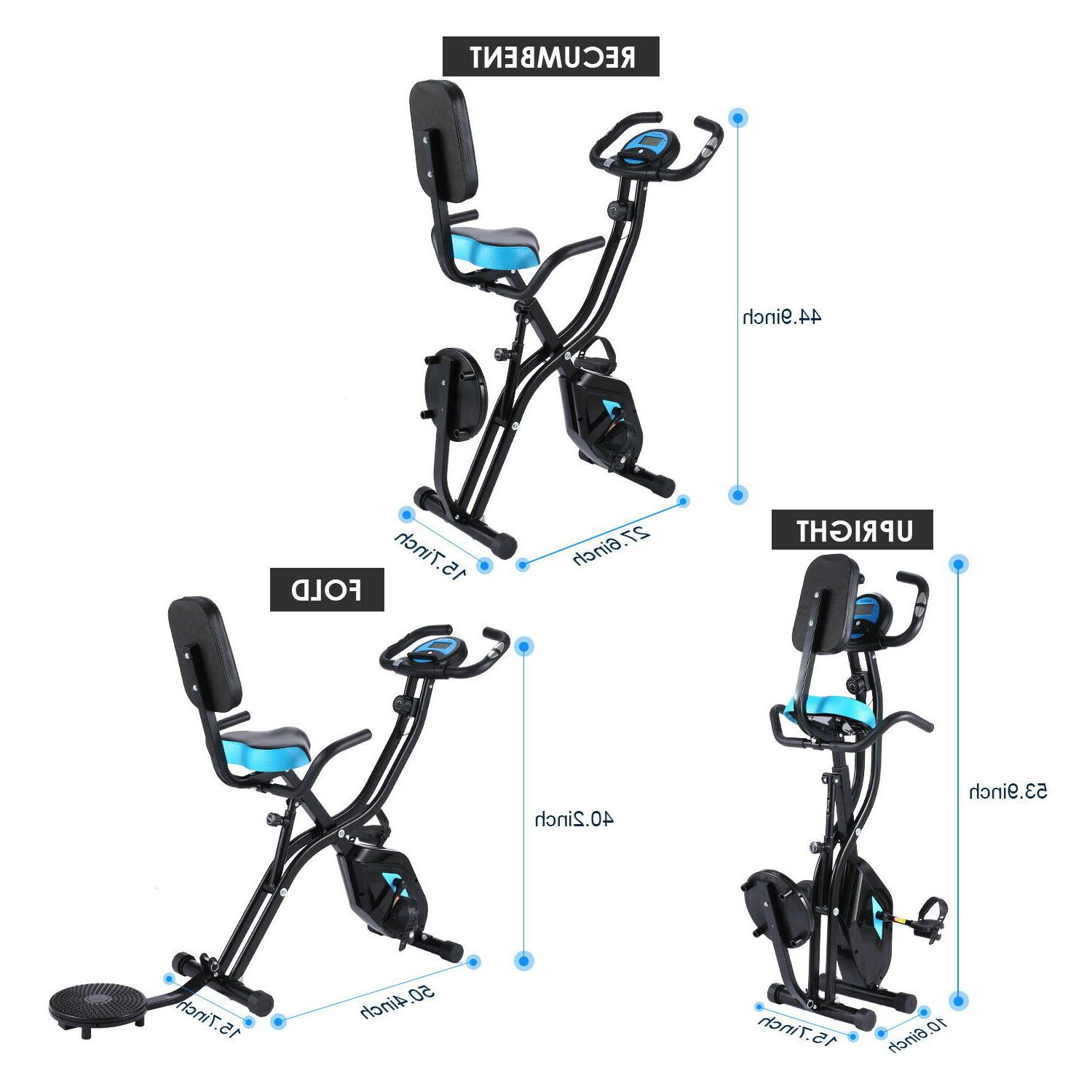 ANCHEER Folding Stationary Indoor Cycling Exercise with LCD