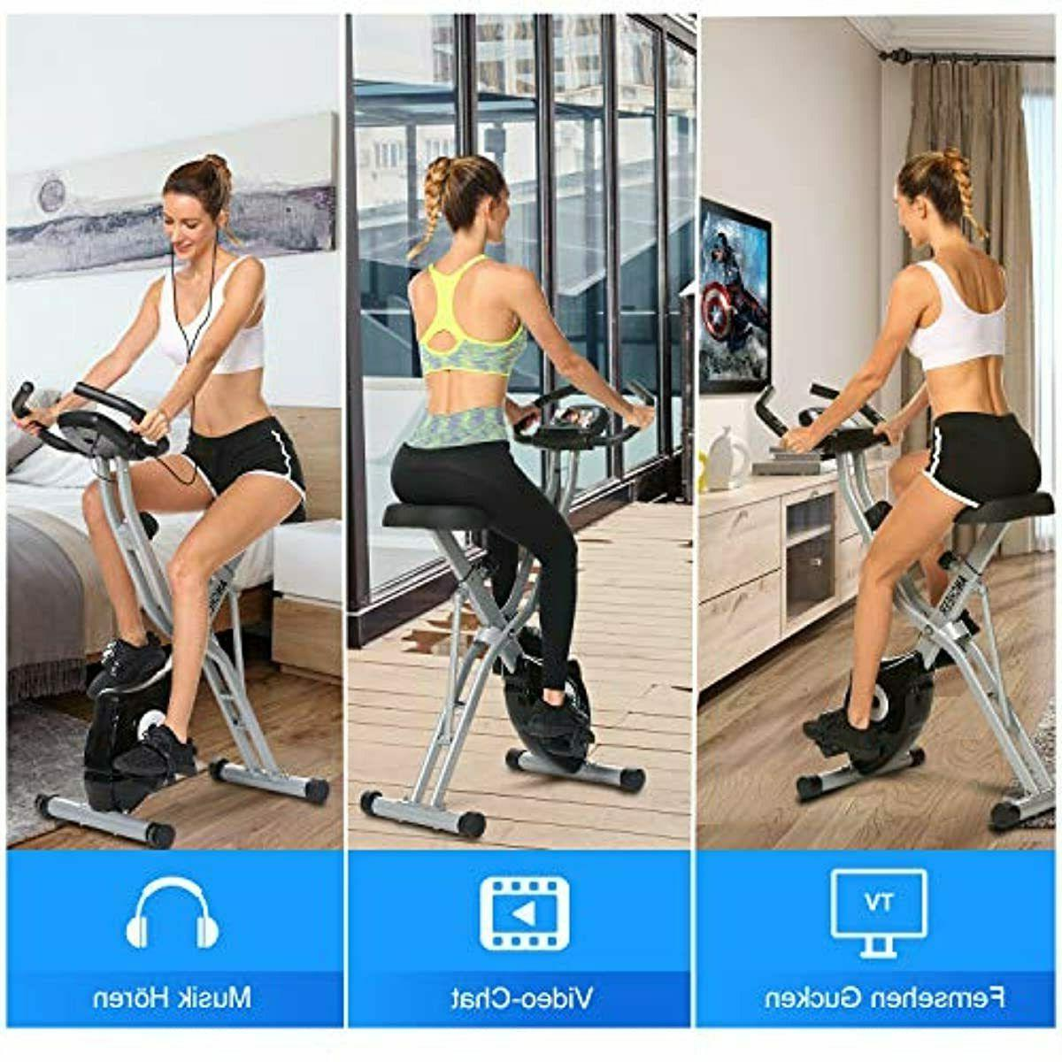 ANCHEER Exercise Bike, Bike with App