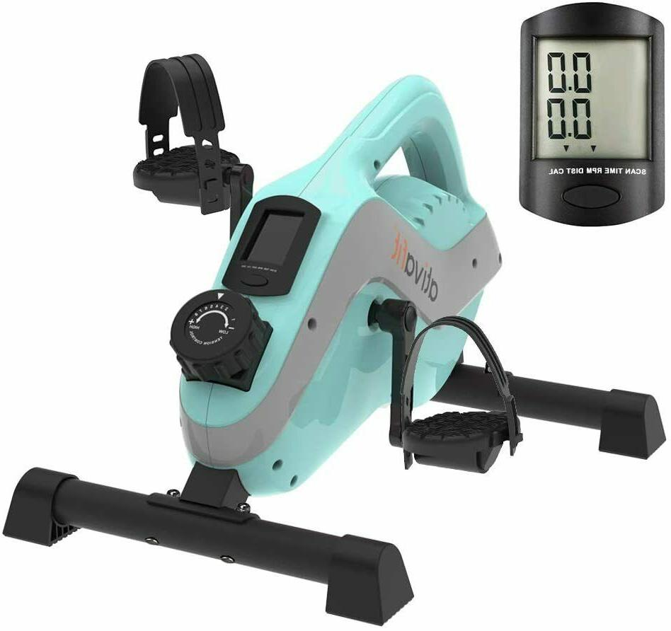 mini under desk exercise bike with lcd