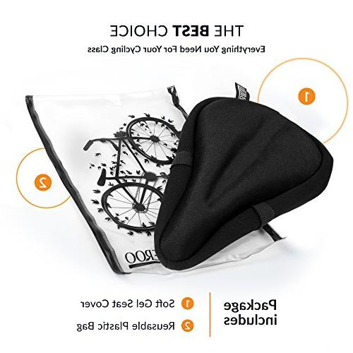 Most Comfortable Exercise Seat Cushion Pad Bicycle Saddle and Men Indoor Cycling, Stationary and