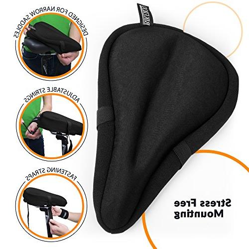 Most Comfortable Seat Cushion Gel Pad - Universal Saddle Cover for Women and Men Indoor Stationary
