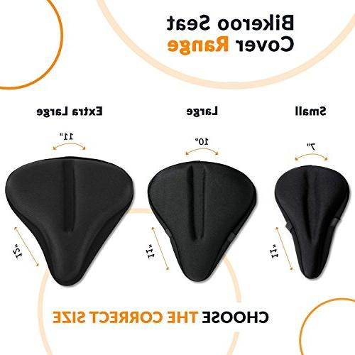 Most Exercise Bike Seat Cushion Soft Gel Pad Saddle Cover Women and Men for Indoor Cycling, Stationary Bikes