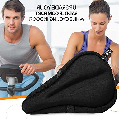 Most Comfortable Seat Gel Pad - Saddle Cover for and for Indoor Hybrid, Stationary Mountain
