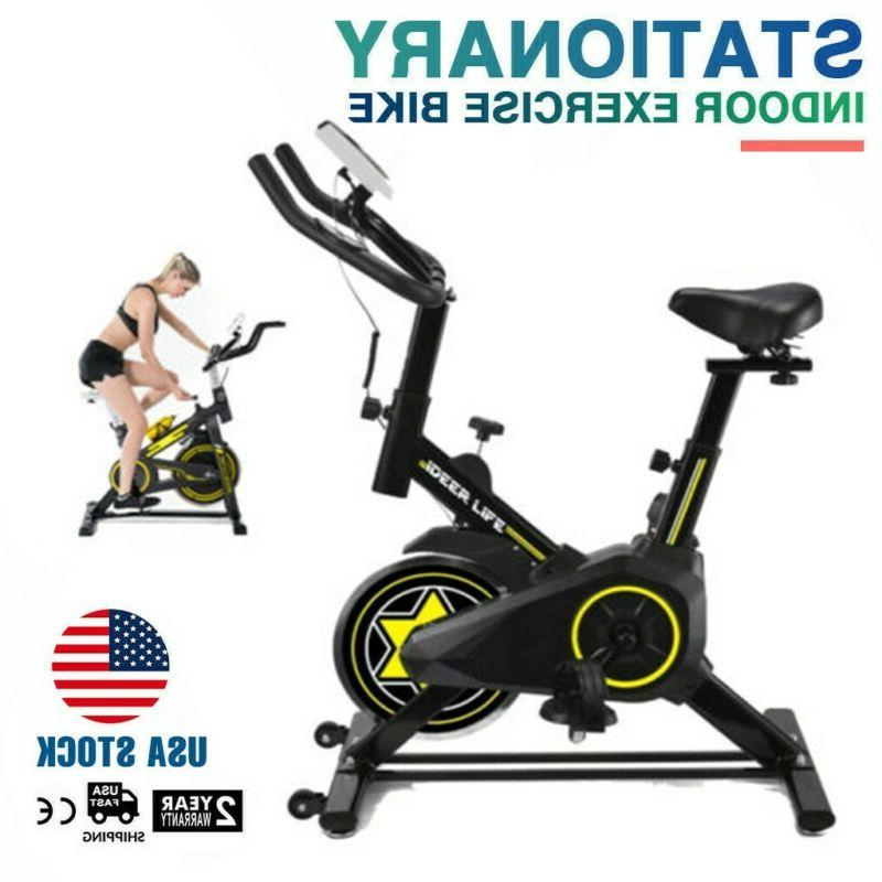Stationary Bicycle Fitness Indoor Cycling Cardio w/LCD