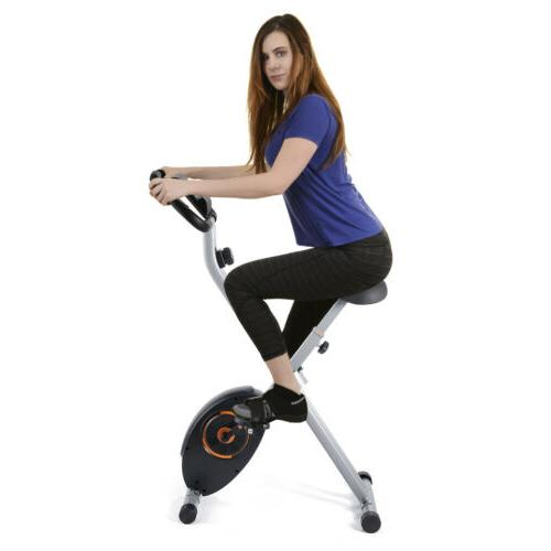 Foldable Stationary Indoor Cycling Gym LCD