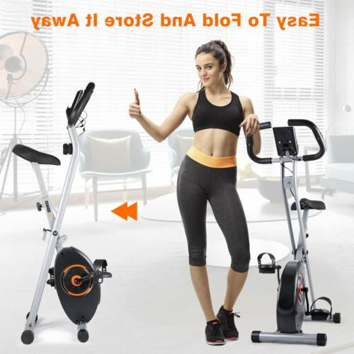 Foldable Exercise Stationary Indoor Cycling Cardio Gym Workout LCD