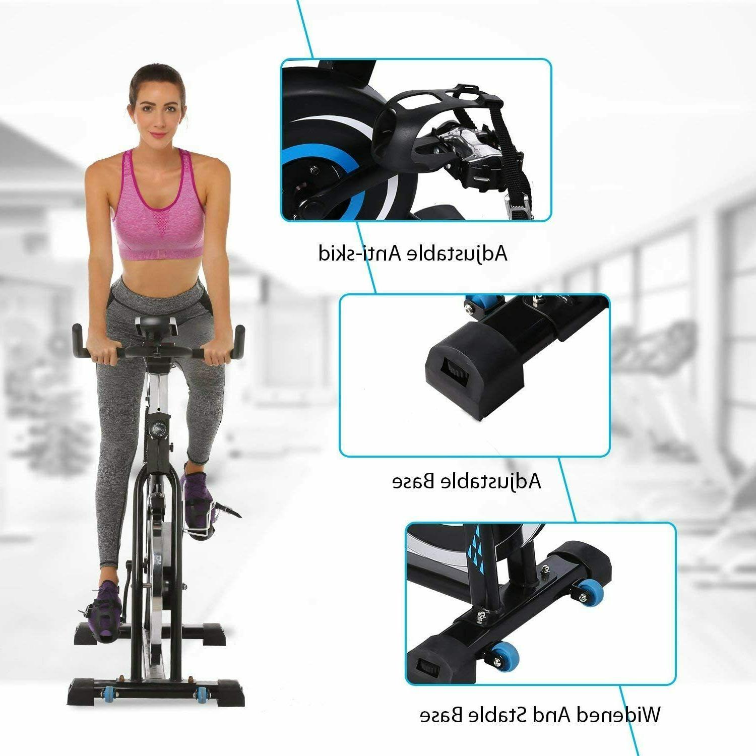 ANCHEER Stationary Exercise Bike, Indoor Cycling Drive Monitor