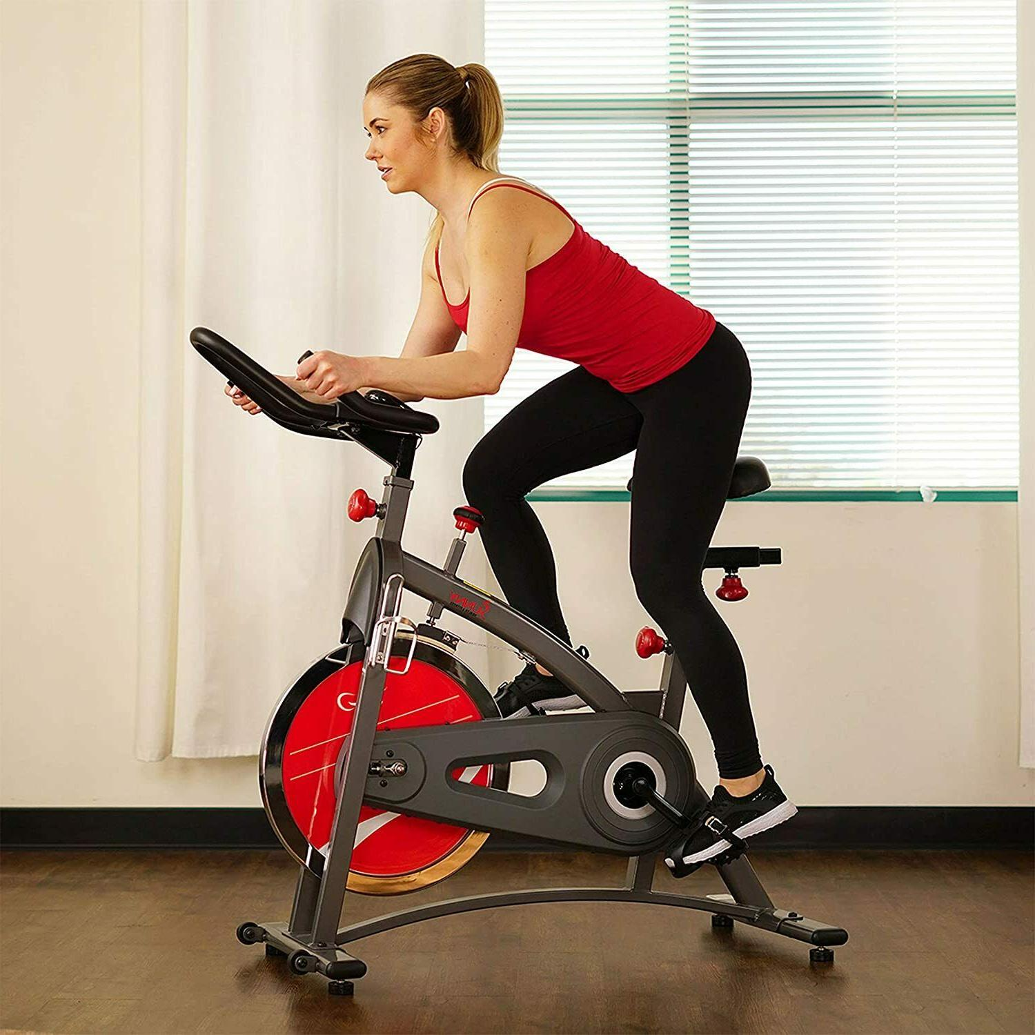 Sunny Health Fitness Indoor Bike with LB