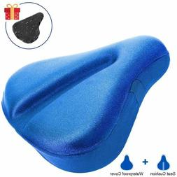 Large Soft Bike Seat Cover, Wide Gel Soft Pad Exercise Bike