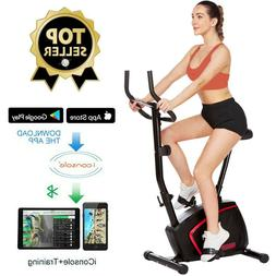ANCHEER Magnetic Upright Exercise Bike w/ 10 level Resistanc