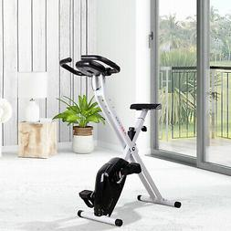 Manual Exercise Bike LCD Monitor Adjustable Tension Padded S
