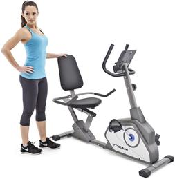 Marcy Magnetic Recumbent Exercise Bike with 8 Resistance Lev